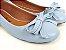 Sapatilha Azul Bebê com Laço Bico Redondo - Imagem 2