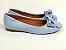Sapatilha Azul Bebê com Laço Bico Redondo - Imagem 5