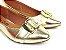 Sapatilha Dourada com Fivela Grande Bico Fino - Imagem 1