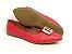 Sapatilha Vermelha com Fivela Grande Bico Fino - Imagem 7