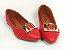 Sapatilha Vermelha com Fivela Grande Bico Fino - Imagem 4