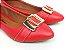 Sapatilha Vermelha com Fivela Grande Bico Fino - Imagem 1