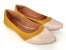 Sapatilha Amarela Mostarda com Bege Bico Fino - Imagem 1