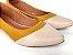 Sapatilha Amarela Mostarda com Bege Bico Fino - Imagem 2