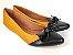 Sapatilha Amarela Mostarda com Preto Laço Nó - Imagem 2