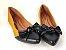 Sapatilha Amarela Mostarda com Preto Laço Nó - Imagem 4