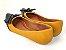 Sapatilha Amarela Mostarda com Preto Laço Nó - Imagem 3