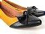 Sapatilha Amarela Mostarda com Preto Laço Nó - Imagem 1