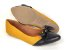 Sapatilha Amarela Mostarda com Preto Laço Nó - Imagem 7