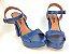 Salto Meia Pata 12 cm Azul Marinho com Tira - Imagem 6