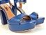 Salto Meia Pata 12 cm Azul Marinho com Tira - Imagem 2