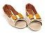 Peep Toe Creme com Laço Amarelo Mostarda - 3 Pares por 99,90 - Imagem 2