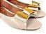 Peep Toe Creme com Laço Amarelo Mostarda - 3 Pares por 99,90 - Imagem 3