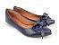 Sapatilha Azul Marinho Laço Bico Fino - Imagem 3