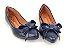 Sapatilha Azul Marinho Laço Bico Fino - Imagem 1