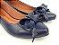 Sapatilha Azul Marinho Laço Bico Fino - Imagem 2