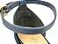 Sandália Azul Marinho Navy com Tiras Cobra Salto Bloco Médio Bico Folha 6 cm - Imagem 9