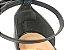 Sandália Preta com Tiras Verniz Pewter Salto Bloco Médio Bico Folha 6 cm - Imagem 8