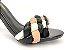 Sandália Soft Preta Verniz Tira Trançada Salto Fino Agulha 8 cm - Imagem 2