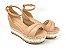 Sandália Soft Nude Antique Flatform Tricot Acolchoada 8 cm - Imagem 4