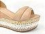 Sandália Soft Nude Antique Flatform Tricot Acolchoada 8 cm - Imagem 2