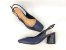 Salto Chanel Azul Marinho Navy Salto Médio Flare 7 cm - Imagem 4