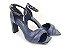 Sandália Soft Azul Marinho Navy Acolchoada Salto Meio Bloco 8 cm - Imagem 4