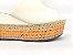 Tamanco Soft Creme Salto Flatform Tricot 8 cm - Imagem 7