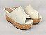 Tamanco Soft Creme Salto Flatform Tricot 8 cm - Imagem 3