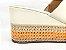 Tamanco Soft Creme Salto Flatform Tricot 8 cm - Imagem 9