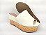 Tamanco Soft Creme Salto Flatform Tricot 8 cm - Imagem 5