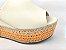 Tamanco Soft Creme Salto Flatform Tricot 8 cm - Imagem 8