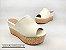 Tamanco Soft Creme Salto Flatform Tricot 8 cm - Imagem 1