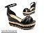 Sandália Soft Preta Flatform Tricot Acolchoada 8 cm - Imagem 1