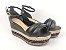 Sandália Soft Preta Flatform Tricot Acolchoada 8 cm - Imagem 5