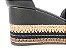 Sandália Soft Preta Flatform Tricot Acolchoada 8 cm - Imagem 8