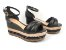 Sandália Soft Preta Flatform Tricot Acolchoada 8 cm - Imagem 2