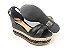 Sandália Soft Preta Flatform Tricot Acolchoada 8 cm - Imagem 6