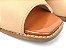 Tamanco Soft Nude Antique e Whisky Croco Verniz Salto Bloco Flare 8 cm - Imagem 5