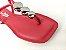 Rasteirinha Luxo Vermelha Ferrari com Acessório Ajustável Metalizado - Imagem 4