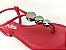 Rasteirinha Luxo Vermelha Ferrari com Acessório Ajustável Metalizado - Imagem 2