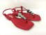 Rasteirinha Luxo Vermelha Ferrari com Acessório Ajustável Metalizado - Imagem 1