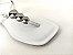 Rasteirinha Luxo Branca com Acessório Ajustável Metalizado - Imagem 4