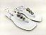 Rasteirinha Luxo Branca com Acessório Ajustável Metalizado - Imagem 1