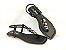 Rasteirinha Luxo Preta com Acessório Ajustável Metalizado - Imagem 5