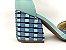Sandália Soft Pistache Acolchoada com Fivela Salto Bloco Tons de Azul 7 cm - Imagem 2