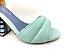 Sandália Soft Pistache Acolchoada com Fivela Salto Bloco Tons de Azul 7 cm - Imagem 7
