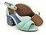 Sandália Soft Pistache Acolchoada com Fivela Salto Bloco Tons de Azul 7 cm - Imagem 4