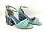 Sandália Soft Pistache Acolchoada com Fivela Salto Bloco Tons de Azul 7 cm - Imagem 3