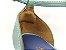 Sandália Soft Pistache Acolchoada com Fivela Salto Bloco Tons de Azul 7 cm - Imagem 8